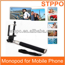 Professional Colorful Self-shooting Mono pod Monopod for Samsung Note 3 Note 2 Smartphone Monopod Z07-1