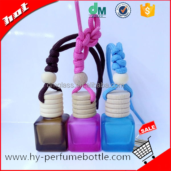 Custom Made Empty Hanging Car Glass Perfume Bottle