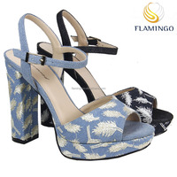 FLAMINGO 2017 LATEST ODM/ OEM women high heel sandals new model women sandals wholesale china shoes