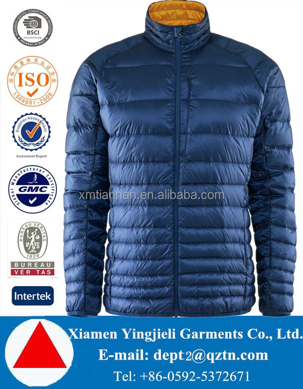 Custom Fully Nylon Face Ultra Thin Foldable Packable Comfy White 90% down 10% Feather Ultralight Down Jacket For Winters Men