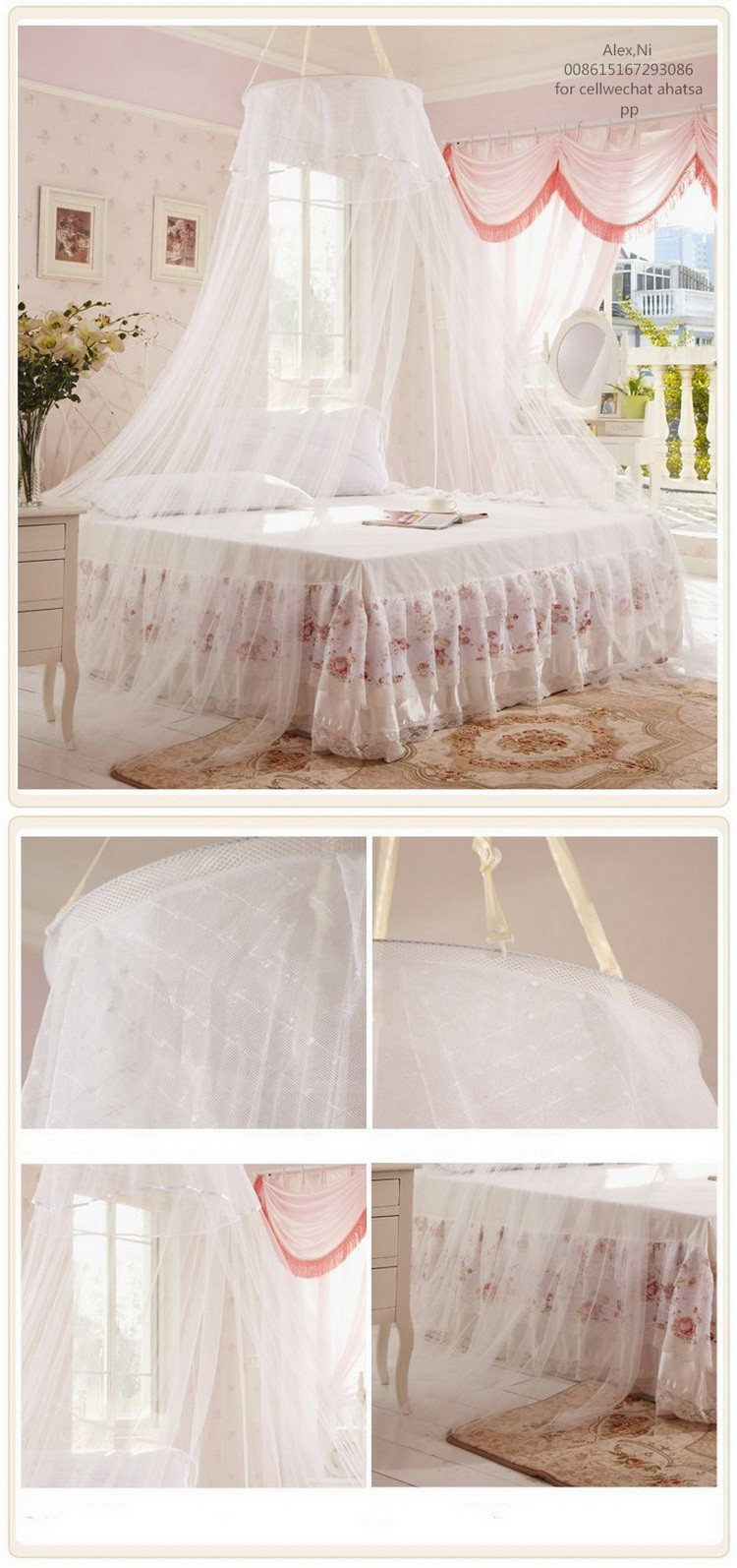 Square top bed canopy mosquito net buy baby bed mosquito for Rectangle bed canopy