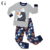 100% Cotton boys sleeping clothes pajamas for kids