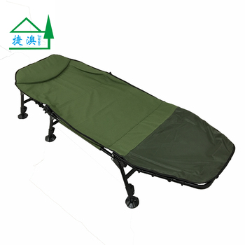 Camp Cot Foldable Camping Bed Chair With Adjustable Legs And Mud Duck Gee  Feet