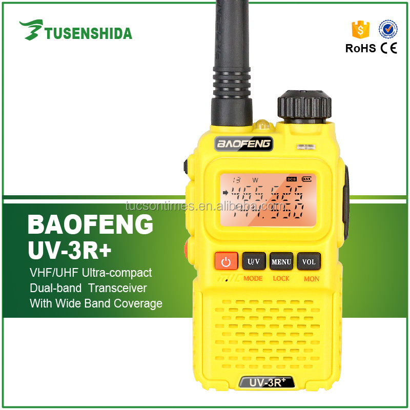 Baofeng CB Radio BF-UV3R+ Mini Single Band vhf uhf Walkie Talkie Radio