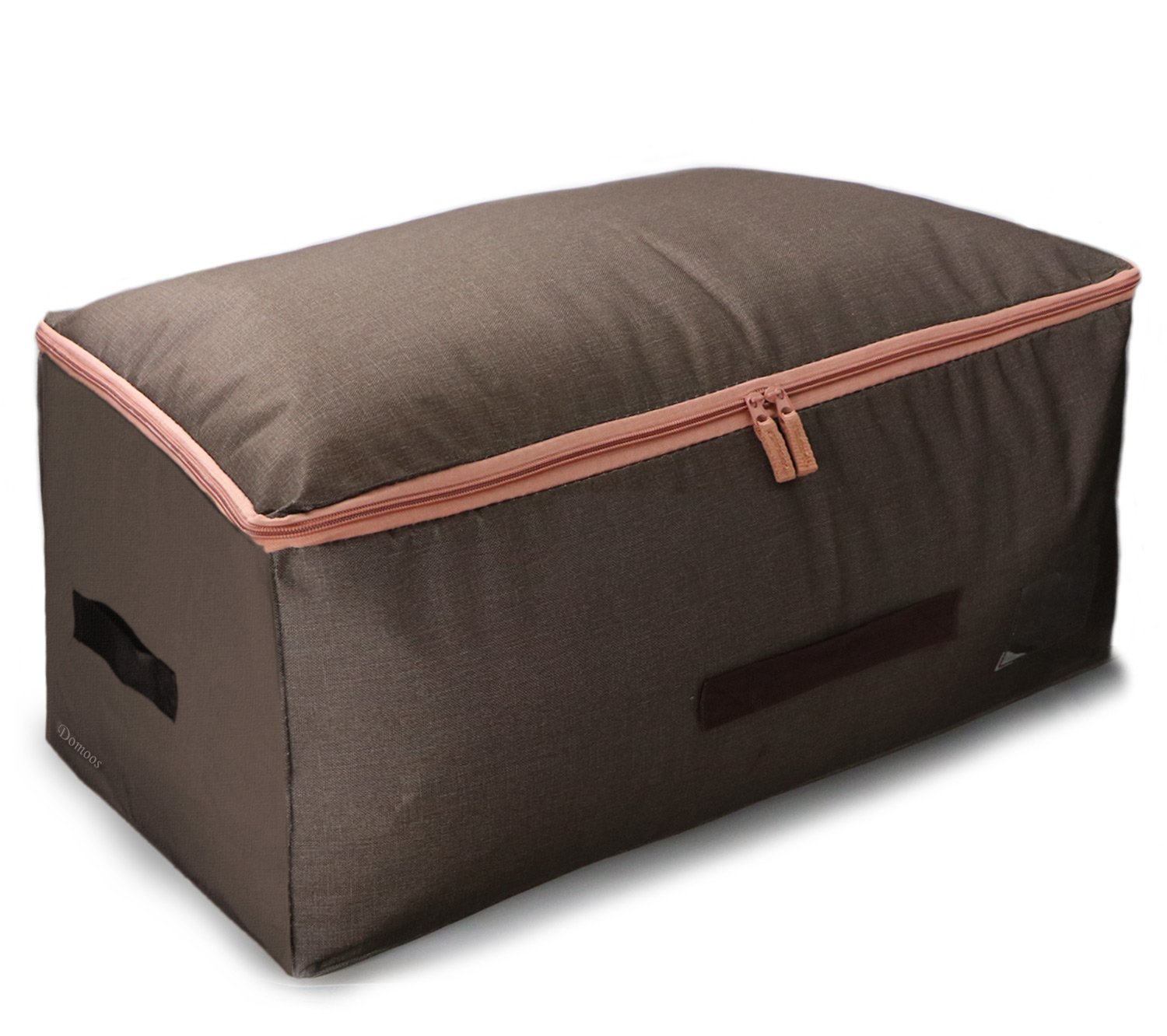 Foldable Under Bed Bag Sturdy Soft Side Storage Organizer Space Saver Bag with Handles Moistureproof Container for Bedding, Duvets, Comforters, Blanket, Clothes, Pillows