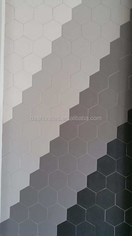 Pure gekleurde zeshoek mozaïek tegel kunst keramische tegels voor ...
