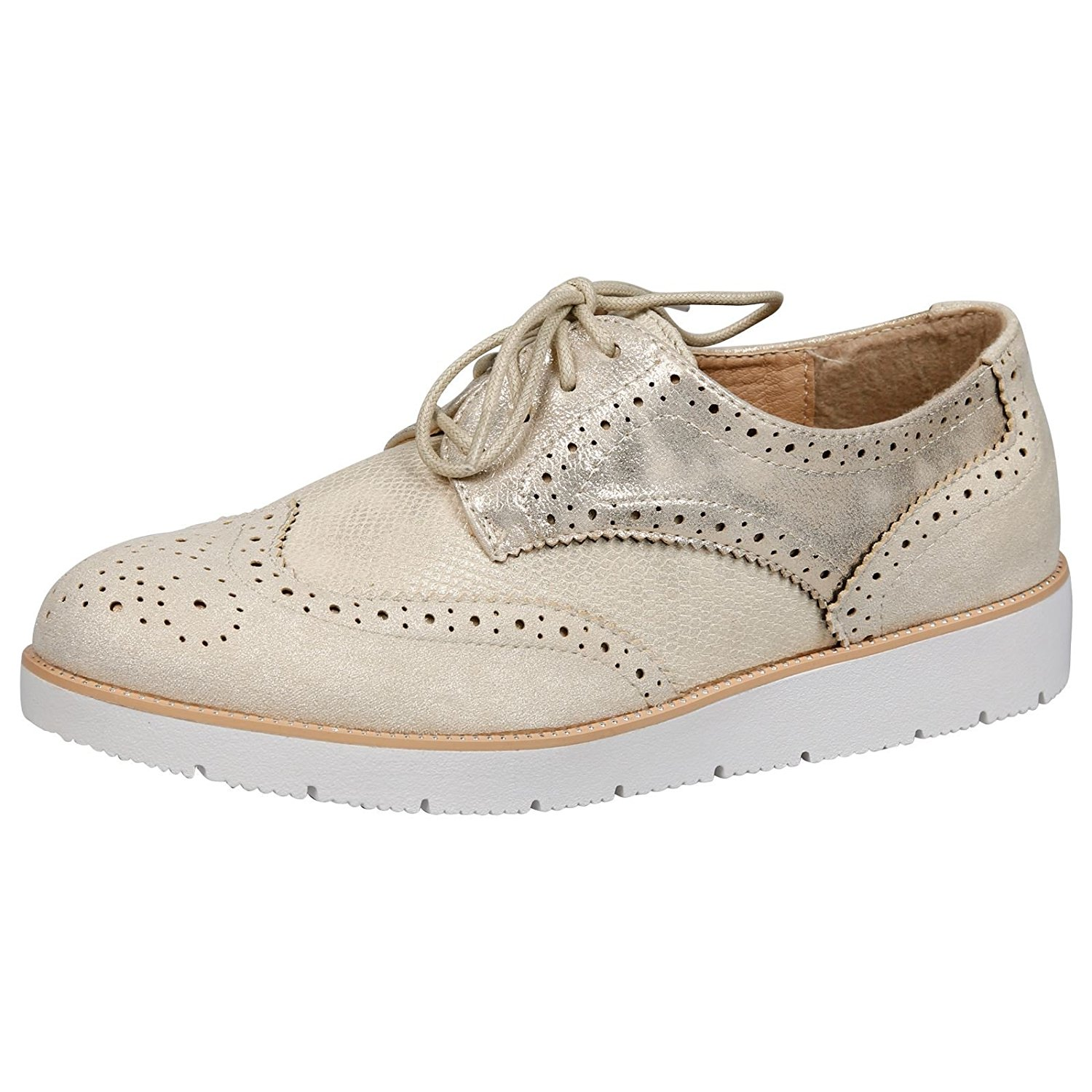 55b5c60e98 Get Quotations · Feet First Fashion Dina Womens Low Heels Lace Up Brogues  Ladies Shoes Oxford Pumps Size New
