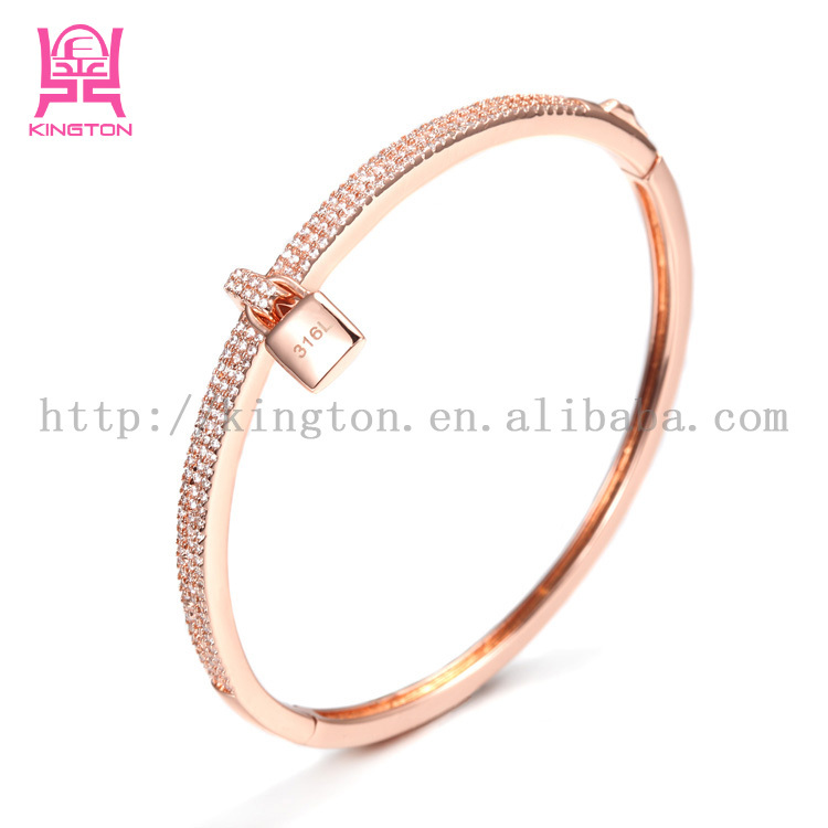 fc816d5be Wedding Churi Rose Gold Full Crystal Bangle Zircon Jewelry - Buy ...
