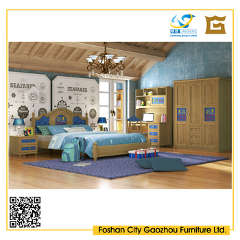 Modern children bedroom furniture solid wood hdf bed set buy solid wood bedroom furniture set Unfinished childrens bedroom furniture