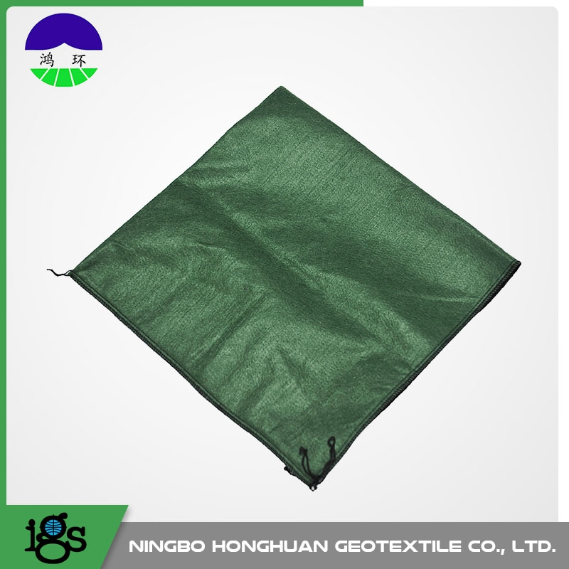 slope protection used polyester geotextile green sand bag with seed