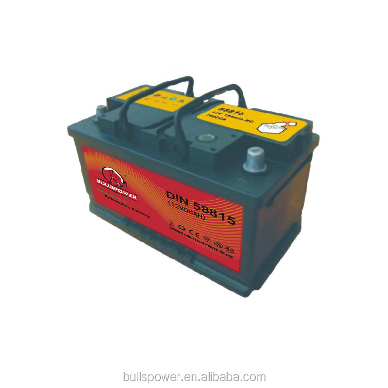 58821 DIN Standard 12v 88ah accumulator 12v car battery