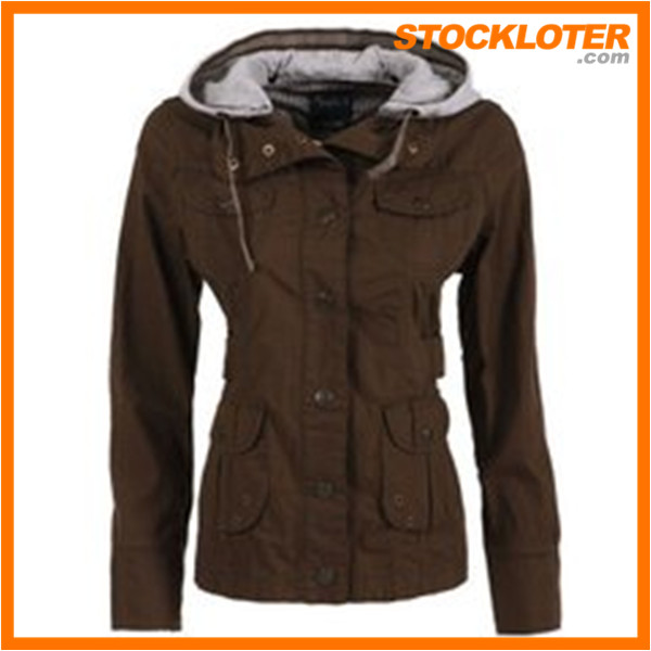 2015 New Design Winter Padded PU Jacket For Ladies Stocklots