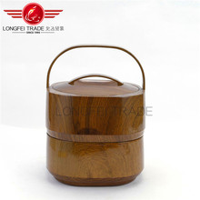 Luxury Marble Grain Wooden Double Plastic Food Containers / Vacuum Food Storage