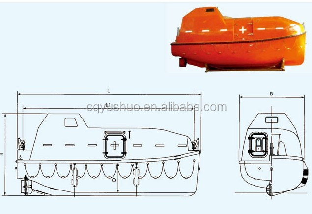 Marine Totally Enclosed Model Free Fall Lifeboat For Sales With ...