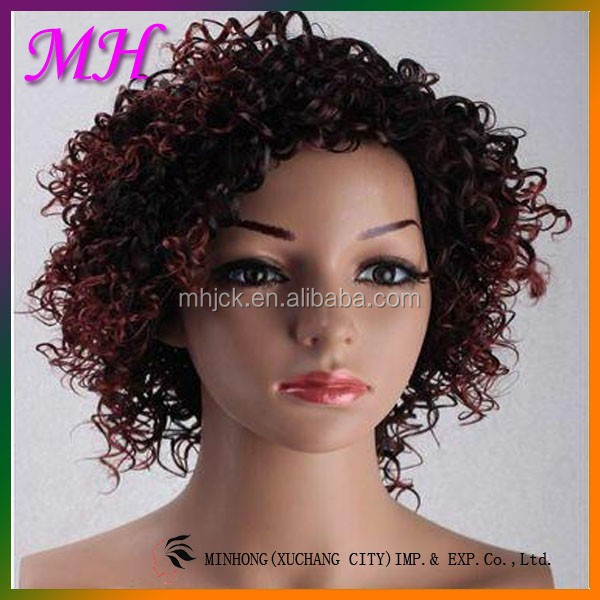 New Cheap Products Synthetic Curly Hair Weave Wig For Braiding Any Color