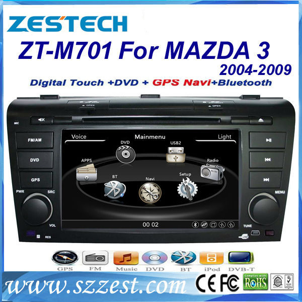 ZESTECH OEM <strong>2</strong> Din Touch screen Car Dvd for Mazda <strong>3</strong> dvd gps with radio audio navigation system autoparts