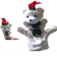Popular cuddly custom animal shaped plush ventriloquist puppets