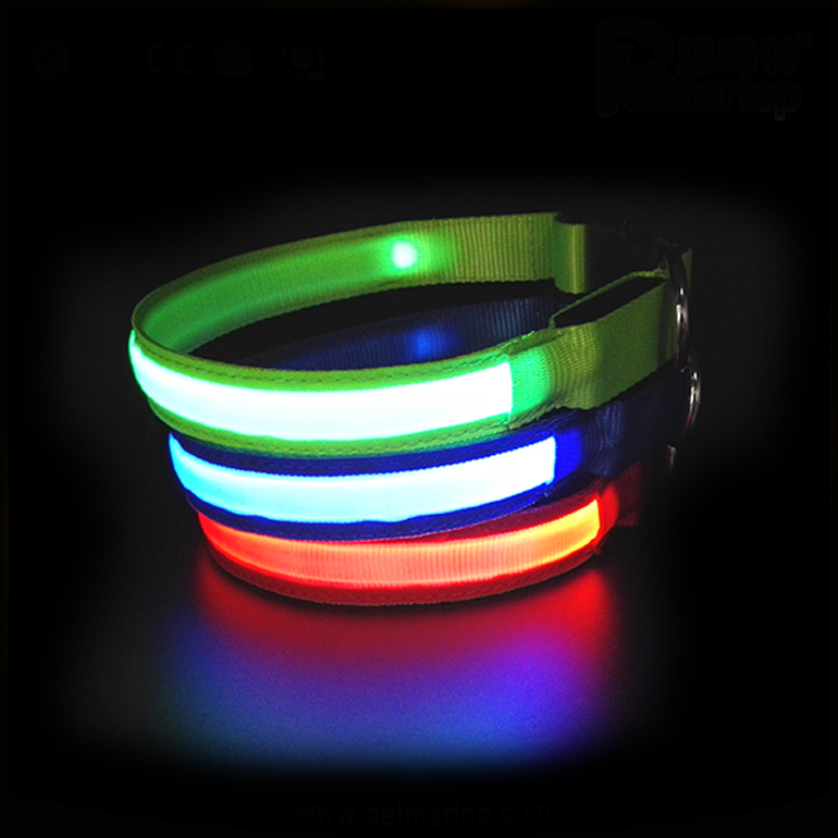 High Quality Waterproof and Rechargeable Glow in The Dark LED Dog Safety Collar