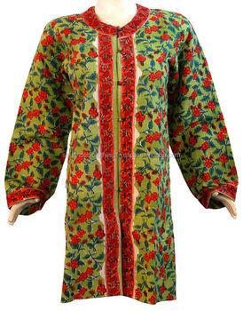 S Designer Coats Uk   Stylish Designer Women S Cotton Jackets Long Kantha Coats Buy
