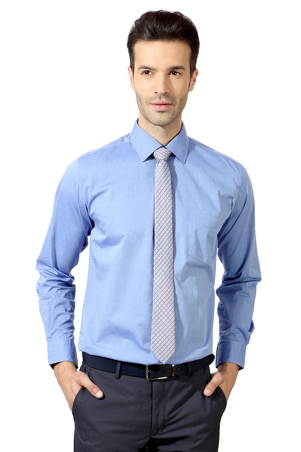 Homens de marca de moda Slim Fit Business Shirt