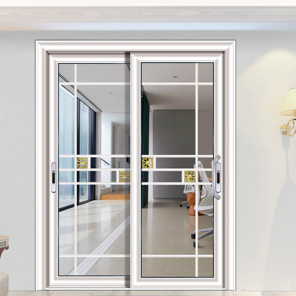 Hs Jy8100 Kabinet Aluminium Bingkai Kaca Pintu Dapur Desain