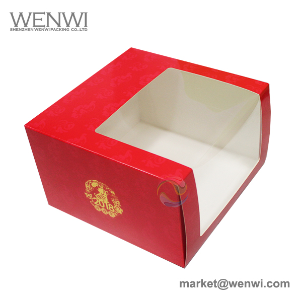 Wholesale Bulk Cheap Plain Custom Printed Logo Clear Plastic Window Hat Box