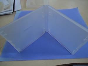 "TEN (10) 3.5"" Single Floppy Disk Holder Pack - Floppy Disk Case Clear - 3 1/2"" Portable Storage Box Disc Diskettes"