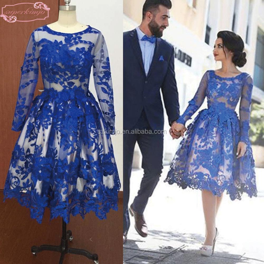 Vestido de festa curto azul comprar