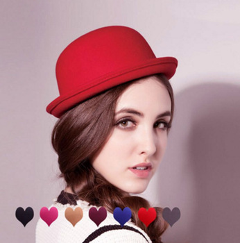 Autumn Women Fedora Hat Classical Cap Chapeau femme Imitation Wool Women\u0027s Hats Cute Solid Black Femme