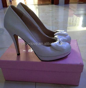 in stock wedding shoes ivory handmade bow wedding shoes 10cm heel bridal shoes