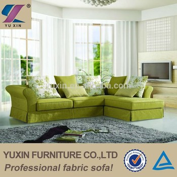 Singapore Green Living Room Fabric Chesterfield Sofa,upholstery Fabric  Wooden Sofa