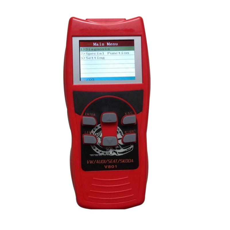 Best Vag Com Scanner Automotive Skanner with LCD Screen On Live Data/Oil Reset/Airbag Reset V801