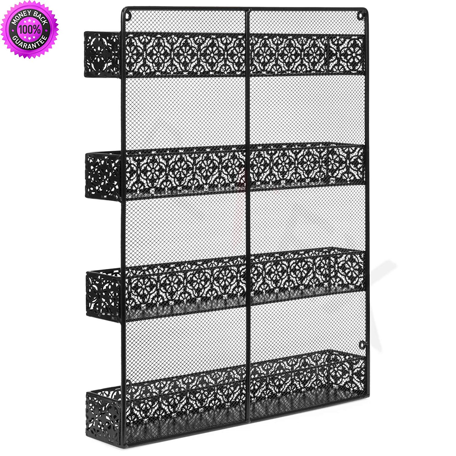 DzVeX_4 Tier Large Wall Mounted Wire Spice Rack Organizer (Black) And searches left. spice rack spice racks for cabinets container store spice rack wall mount spice rack spice rack bed bat