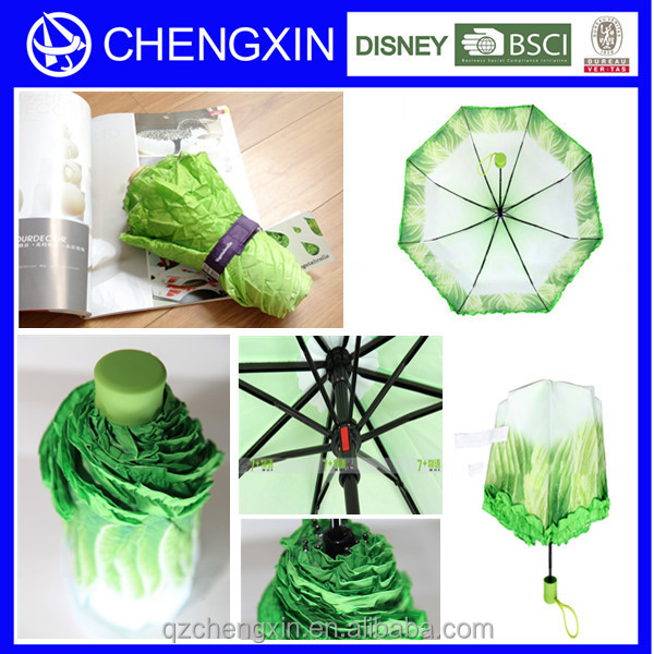 cabbage shape ,waterproof fabric for umbrella,cover to rain