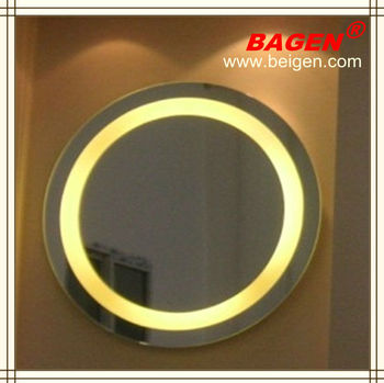 Round Mirror With LED Lighting Modern Bathroom Mirrors For Hotels17years Supply Hotels