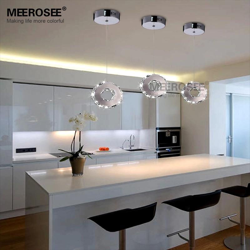 eclairage led escalier interieur Moderne Cristal LED Suspension Lustres LED Éclairage Intérieur 1 Anneau  Du0027allée Du0027escalier