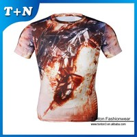 cheap cotton mass production 50 cotton 50 polyester t shirts