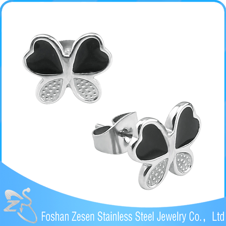 Cheap Upper Ear Piercing Jewelry With Stainless Steel Butterfly