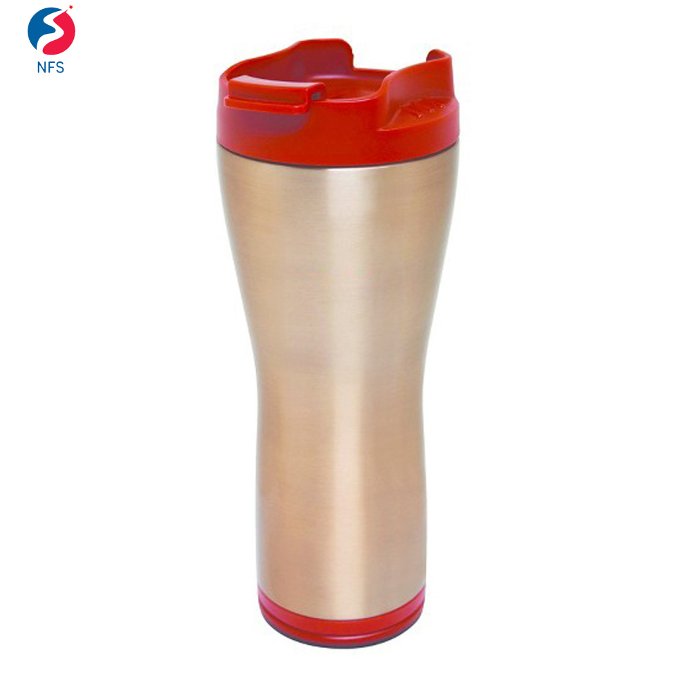 Leak Resistant Red Copper Travel Mug Stainless Steel Copper Mug
