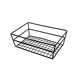 Top Quality Factory Sale Cheap Rectangular Wire Grid Basket, Black