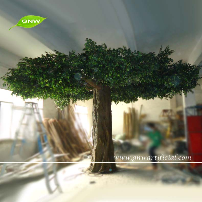 GNW BTR011 8 Artificial Banyan Forest Trees 4meter Tall For Decoration