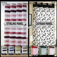 modern voile curtain panel Eyelet Ring Top Panels