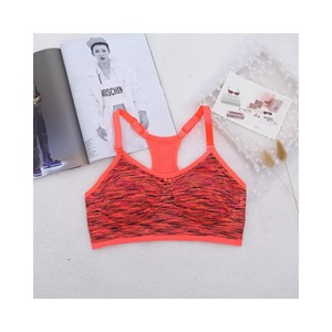 New Arrival Fashion Colorful Y Shape Back Straps Sports Workout Fitness Gym Bra
