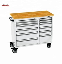 Us general workshop pro tool roller storage cabinet with wooden worktop