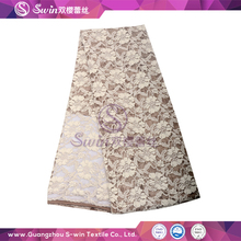 S-win Gray Color Jacquard Lace Fabric Cotton Polyamide and Spandex Fabric