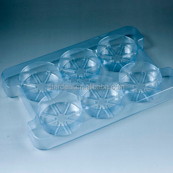 High quality customized disposable plastic blister packaging for hardware tray