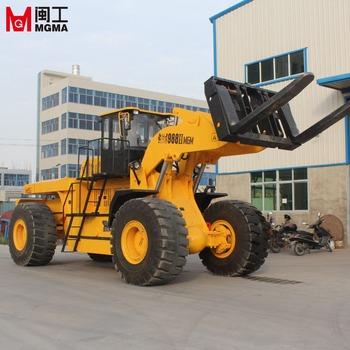 forklift wheel loader stone block big wheel loader mgm998 50 ton