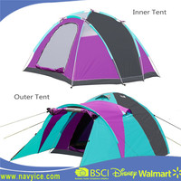 Family camping tent Tunnel Tent Backpacking for 2 person with Rainfly 3 season's camp tent for promotion