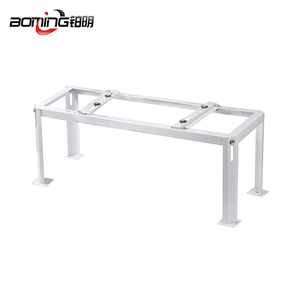 Metal air conditioner outdoor stand with white coating surface