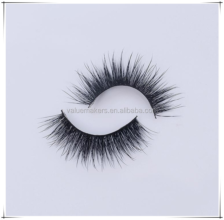Top Quality Silk eyelashes Hot selling pure hand made 100% mink lashes 3d mink eyelash